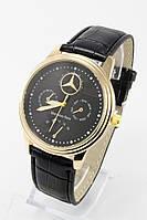 Мужские наручные часы Mercedes-Benz (Мерседес) золотые с чёрным циферблатом ( код: IBW083YB )