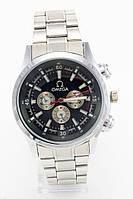 Мужские наручные часы Omega (Омега), стальные с чёрным циферблатом