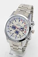 Мужские наручные часы Omega (Омега), стальные с серебристым циферблатом