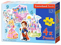Пазл Мир принцессы 3,4,6,9 эл 4 в 1 005031
