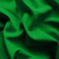 Ткань габардин недорогой - цвет зеленый (трава)