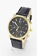 Мужские наручные часы Rolex (Ролекс), золото с чёрным циферблатом ( код: IBW086YB )