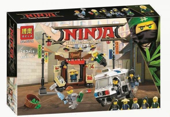 Конструктор Ninjago Movie Bela 10714 Ограбление киоска в Ниндзяго Сити 264 дет