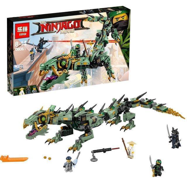 Конструктор Ninjago Movie Lepin 06051 Механический Дракон Зеленого Ниндзя 592 дет
