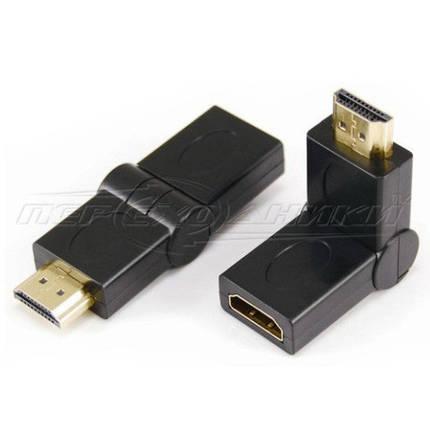 Переходник HDMI  (F) - HDMI  (M), поворотный, фото 2