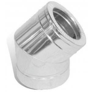 Колено 45° для дымохода нержавейка в оцинковке, фото 2