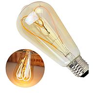 """Лампа Эдисона светодиодная ST64 4W диммируемая """"сердце"""", фото 1"""