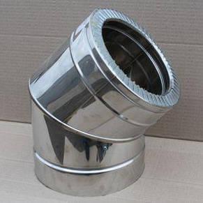 Дымоходное коліно 45° нержавійка в нержавіючій сталі, фото 2