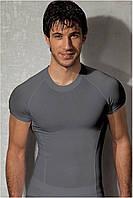 Мужская футболка серая приталенная Doreanse 2535 L