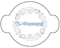 "40-W175 Трафарет для декорирования ""сердечки"" Martellato (O20 см)"