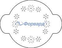 "40-W174 Трафарет для декорирования ""цветы"" Martellato (O20 см)"