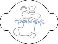 "40-W178 Трафарет для декорирования ""Рождество"" Martellato (20 см)"
