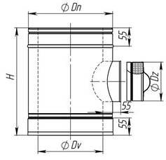 Ревизия для дымохода из нержавеющей стали, фото 2