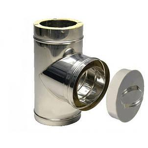 Ревизия для дымохода из нержавеющей стали в оцинкованном кожухе, фото 2