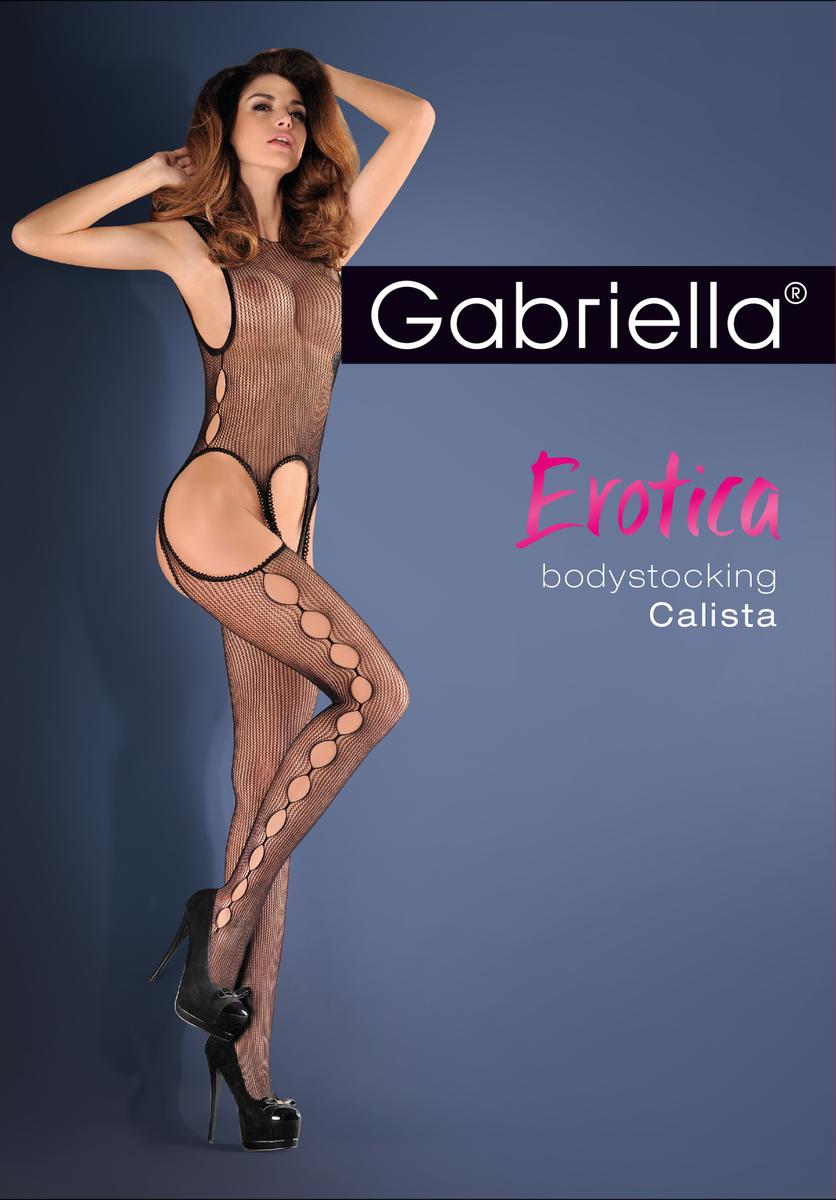 Сітчастий еротичний бодистокинг з вирізами Calista Gabriella
