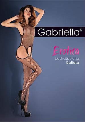 Сітчастий еротичний бодистокинг з вирізами Calista Gabriella, фото 2