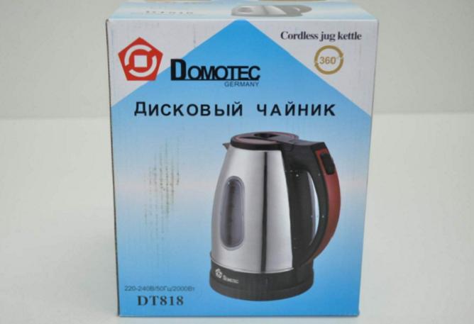 Чайник электрический дисковый DOMOTEC DT818