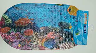 Силиконовый коврик для ванной Морской