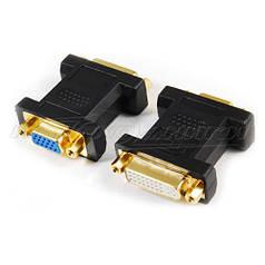 Переходник с DVI  (24+5) (F) - VGA (F)