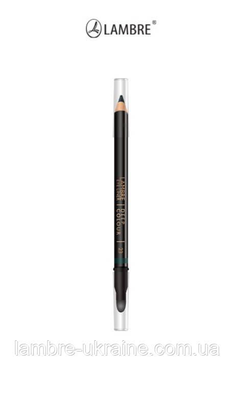 Карандаш для глаз Lambre Eye Liner Deep Colour № 23 - оттенок лесная зелень