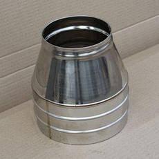 Конус для дымохода из нержавеющей стали в оцинкованном кожухе, фото 3