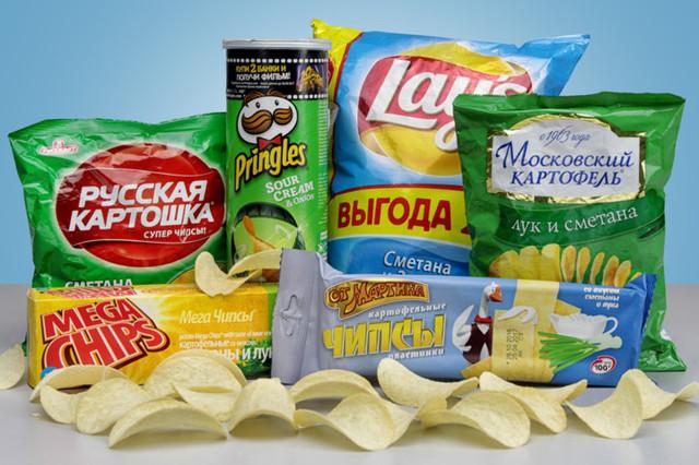 Чипсы, сухарики, попкорн, разные снеки