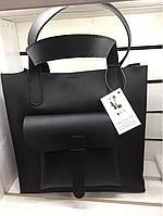 Женская сумка большая матовая кожа