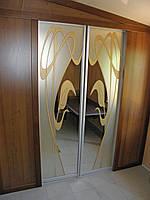 Шкаф-купе в нишу фотопечать Орхидея 120