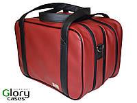 Сумка для визажиста Glory Cases трансформер с косметичками 22*34*28 см Бордово-черный