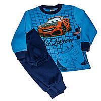 Костюм спортивный Тачки синего цвета для мальчика
