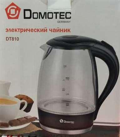 Стеклянный электрический чайник Domotec DT 810 / 820