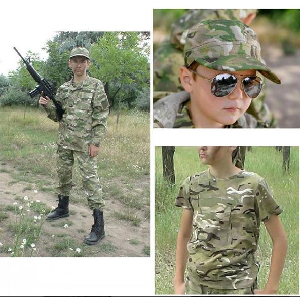 Комплект Киборг костюм кепка футболка камуфляж Мультикам