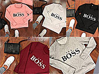 "Женский свитшот ""Yes boss"" +++ БАТАЛlvзав- boss"