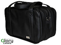 Бьюти-кейс, сумка для визажиста с прозрачными косметичками, 2 отдела, Glory Cases Черный