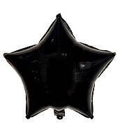 """Шарик фольгированный """"Звезда черная"""" диаметр 45см."""