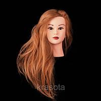 Учебный манекен для причесок 100% натуральных волос длина 75-80 см
