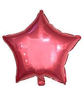 """Шарик фольгированный """"Звезда розовая"""" диаметр 45см."""