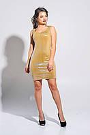 Enigma G 3016 Платье-двойка вечернее из сетки и трикотажного люрикса