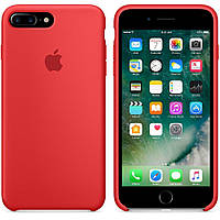 Оригинальный Силиконовый чехол Apple\Original silicone case for iPhone 7 plus red (красный) (High copy)