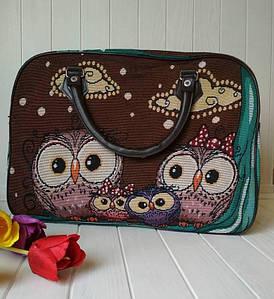 Дорожная текстильная сумка с совами