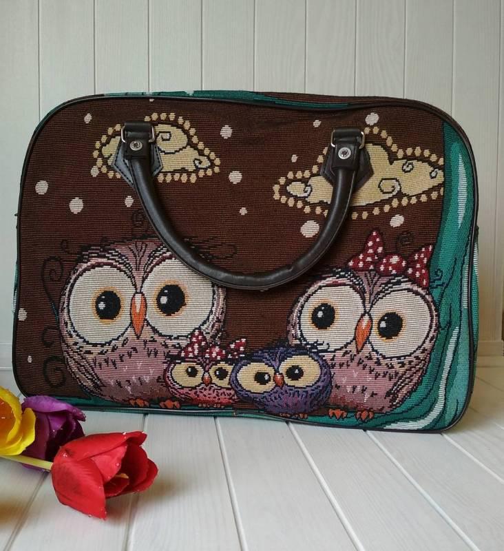 c4e5f0ca0025 Дорожная текстильная сумка с совами, цена 250 грн., купить в ...