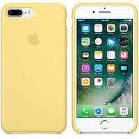 Оригинальный Силиконовый чехол Apple\Original silicone case for iPhone 7 plus yellow (желтый)(High copy)