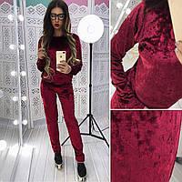 Модный костюм из мраморного велюра в расцветках АМС-1802.017(3)