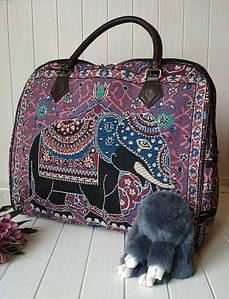 Женская текстильная сумка со слоном