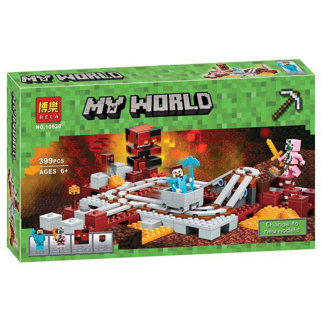 Конструктор Minecraft Bela 10620 Подземная железная дорога 399 дет