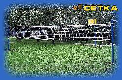 Волейбольная сетка «Любитель-10» с тросом! Ячейка 10 см. Ø шнура - 3 мм