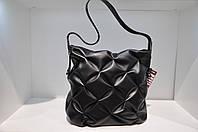 Кожаная женская сумка драпировка 0039-836