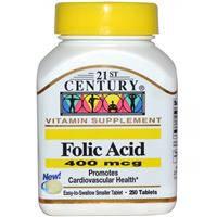 Фолиевая кислота, 21st Century Health Care,  400 мкг, 250 таблеток