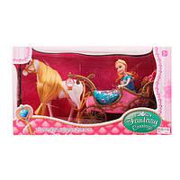 Карета 252A  с лошадью 47см(ходит), кукла 28см , на бат-ке, в кор-ке, 50-28-19см