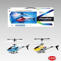 Вертолет DH866D-1  р/у,аккум,20см,свет,гироскоп,3канала,USBзарядн,3цв,в кор-ке,44,5-18,5-7см